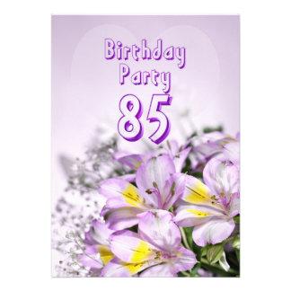 Invitation de fête d anniversaire 85 années
