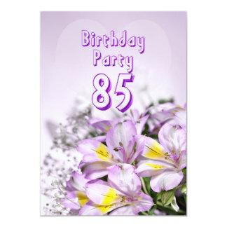 Invitation de fête d'anniversaire 85 années