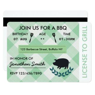 Invitation de fête d'anniversaire de barbecue de