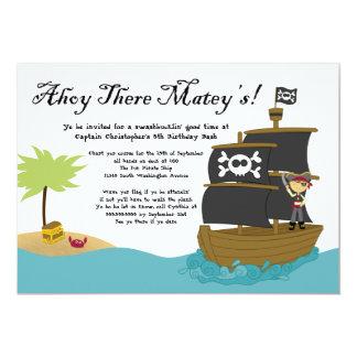 Invitation de fête d'anniversaire du pirate du