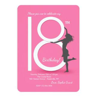 Invitation de fête d'anniversaire enfin 18