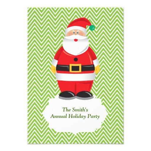 Invitation de fête de vacances de Père Noël