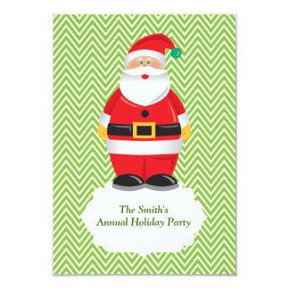 Invitation de fête de vacances de Père Noël Carton D'invitation 8,89 Cm X 12,70 Cm