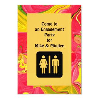 invitation de fiançailles d'amusement