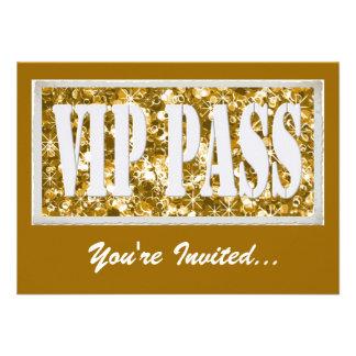 Invitation de la partie VIP d'or