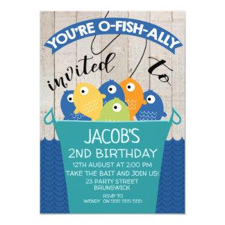 invitation de l'anniversaire du garçon invité