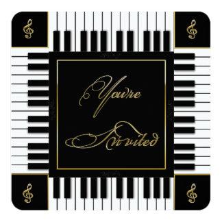 INVITATION DE MUSIQUE (CLAVIER DE PIANO)