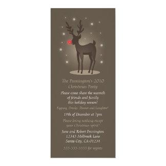 Invitation de Noël de renne