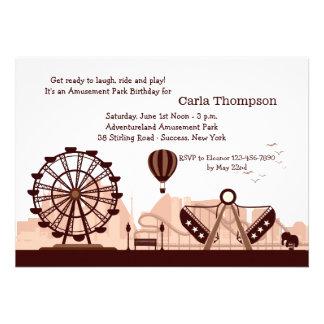 Invitation de parc d attractions Brown