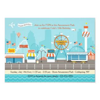Invitation de parc d'attractions