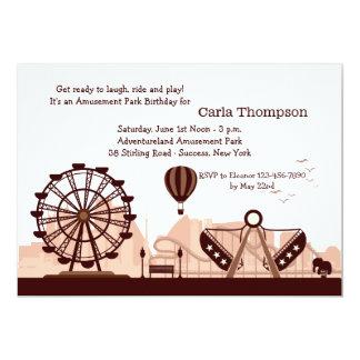 Invitation de parc d'attractions (Brown)