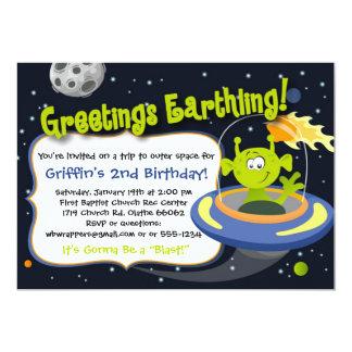 Invitation de partie d'alien d'espace - planètes