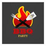 Invitation de partie de barbecue/gril