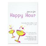 Invitation de partie de cocktails d'heure heureuse