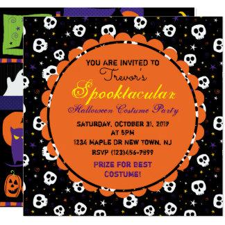 Invitation de partie de Halloween d'amusement,