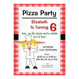 Invitation de partie de pizza d'anniversaire