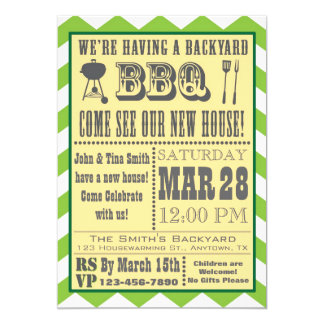 Invitation de pendaison de crémaillère de barbecue