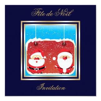 Invitation de Père Noël Fête de Noël Carton D'invitation 13,33 Cm