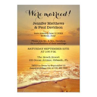 Invitation de photo de réception de mariage de