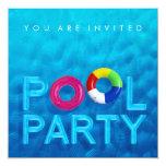Invitation de réception au bord de la piscine de carton d'invitation  13,33 cm