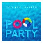 Invitation de réception au bord de la piscine de n