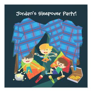 Invitation de soirée pyjamas du Sleepover du