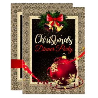 Invitation élégant de dîner de Noël de motif