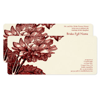 Invitation élégant victorien de rose de chou de