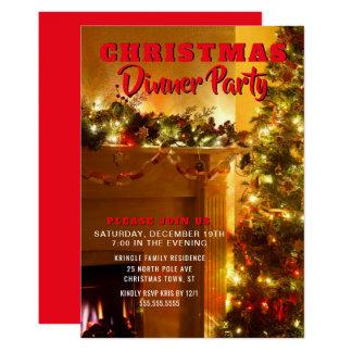 Invitation élégante de dîner de vacances de Noël