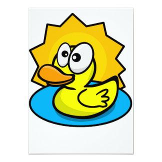 Invitation en caoutchouc de canard d'amusement