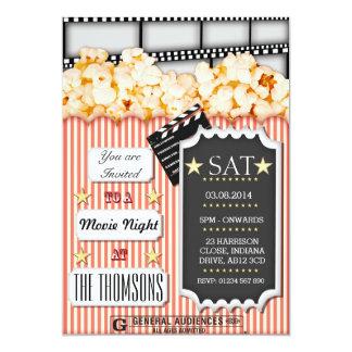 Invitation faite sur commande de soirée cinéma carton d'invitation  12,7 cm x 17,78 cm
