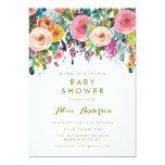 Invitation floral peint de baby shower de jardin