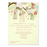 Invitation florale de baby shower d'emboîtement