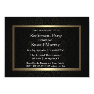Invitation formelle de partie de retraite