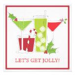 Invitation gaie de cocktail de Noël de houx