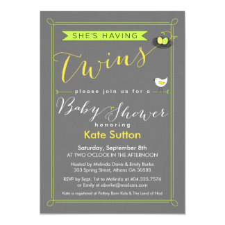 Invitation jumelle de baby shower