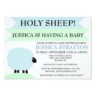 Invitation mignon et d'amusement de moutons de