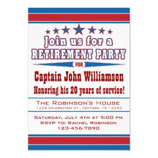 Invitation militaire de partie de retraite