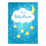Invitation mobile de baby shower de nuage carton d'invitation  12,7 cm x 17,78 cm