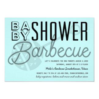 Invitation moderne de barbecue de baby shower de