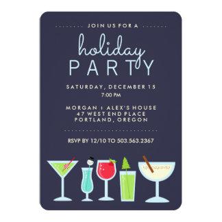 Invitation moderne de fête de vacances d'amusement