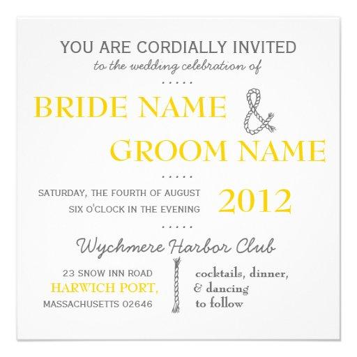 Invitation moderne de mariage de suite d'invitatio