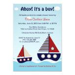 Invitation nautique de baby shower de bébé de carton d'invitation  12,7 cm x 17,78 cm