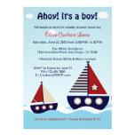 Invitation nautique de baby shower de bébé de voil