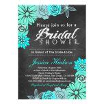 Invitation nuptiale de douche de tableau floral bl