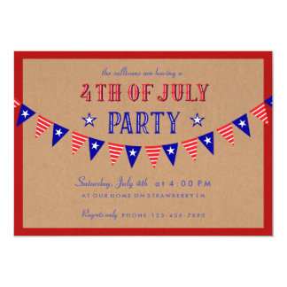 Invitation patriotique de partie de bannière 4