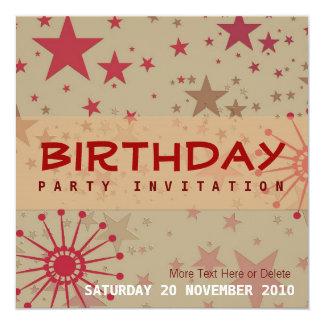 Invitation planante d'anniversaire de partie