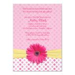 Invitation rose de baby shower de marguerite de carton d'invitation  11,43 cm x 15,87 cm