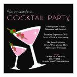 Invitation rose de cocktail de Martini