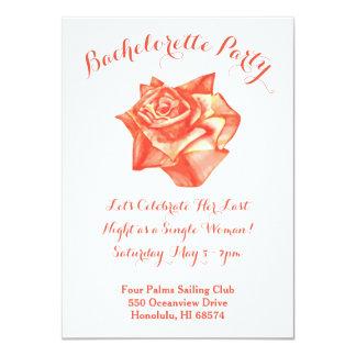 Invitation rose de partie de Bachelorette de